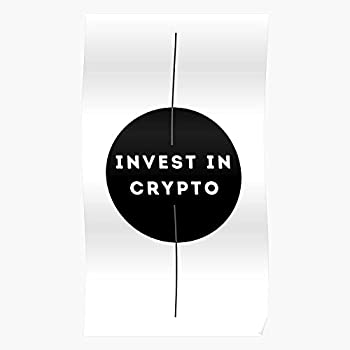 Crypto Lightcoin Cryptocurrency Circle Bitcoin Black Invest Investment Best Poster Wall Art for Home Decoration 16x24 Inches