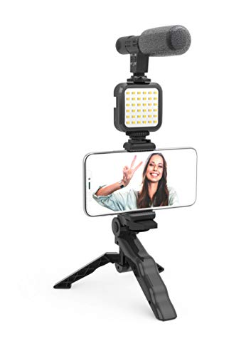 Like ME Vlogging Kit - Compatible with Smartphones and Cameras Including Microphone,...