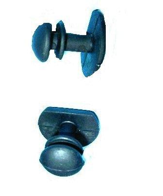Nierhaus Knieschoner Kunststoff Knopf mit langem Hals schwarz