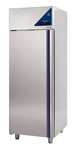 Gastlando - Premium Edelstahl Gewerbe-Tiefkühlschrank - Umluft - 600 Liter - Edelstahltür -18° bis -22 °C