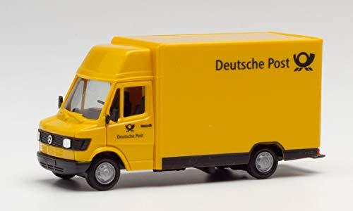 Mercedes-Benz 207D Kögel Deutsche Post Fahrzeug in Miniatur zum Basteln, Sammeln und als Geschenk