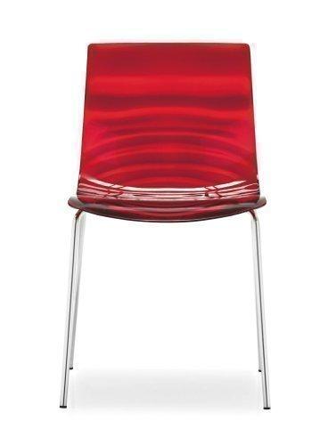 Set 2 sedie L'eau CS/1273 Calligaris - in rosso trasparente
