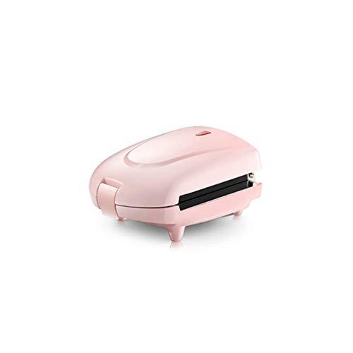 Maker Mini Sandwich Machine À Gaufrier Électrique Panini Cuisson Gâteau Du Four Acier Inoxydable Muffin Petit-Déjeuner Grille-Pain 3 Plateaux De Cuisson,Rose