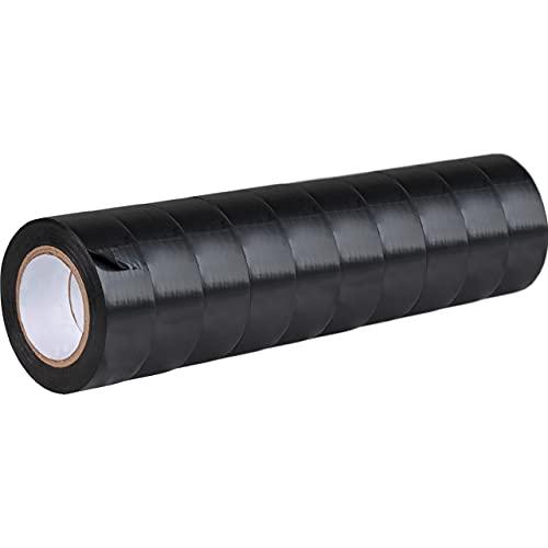 GRIP Eventbasics GT 807 Isolierband schwarz 10er Set, Iso Tape 19 mm x 10 m, VDE-geprüft, wasserfest, elastisch, durchschlagfest bis 5 kV