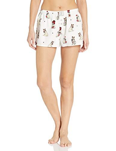 PJ Salvage Women's Pajama Shorts, Ivory, X-Large