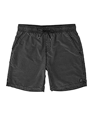 Billabong Men's 17 Inch Outseam All Day Layback Boardshorts, Overdye Black, XL