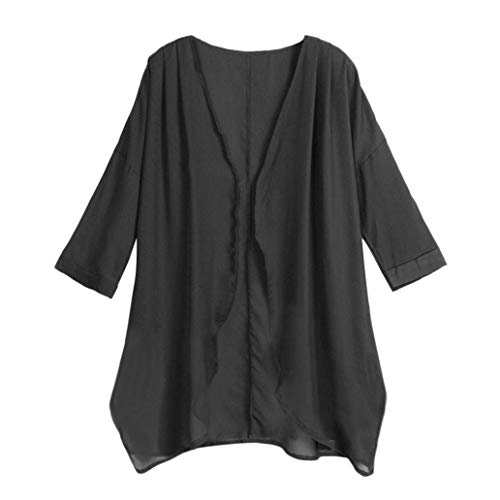 Dames Jas Zomer Mode Tuniek Ademend Elegante Effen Kleur Mode Merken Vest Lange Mouw Losse Onregelmatige Kimono Bikini Cover Up