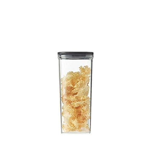 Caja de almacenamiento de alimentos sellada de gran capacidad de plástico transparente para té y grano Contenedores de almacenamiento de refrigerador, comida y caja fresca de cocina Gadget