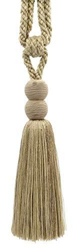 DecoPro Vendu Individually|Oatmeal, Grain, foncé, Sable, Sandstone|24 cm Tassel Tieback|Mushroom