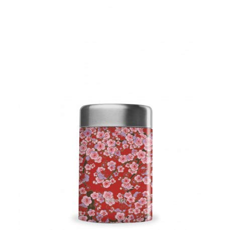 QWETCH Boîte Repas Isotherme Flowers, Taille - 650 ML