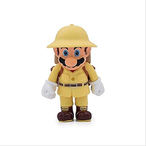 Super Mario Bros Figura PVC Aventura Juguetes Viajeros PVC Colección Modelo Muñeca Regalos para niños 12 cm