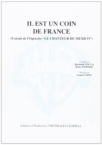 Mariano Luis Il Est Un Coin De France Voice & Piano Book