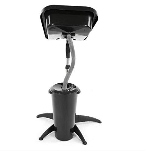 XJZKA Fregadero portátil para champú con Manguera de Drenaje, fregaderos de peluquería de plástico ABS Negro de Gran Capacidad, para Uso en Salones de Belleza, Lavabo Ajustable para el c