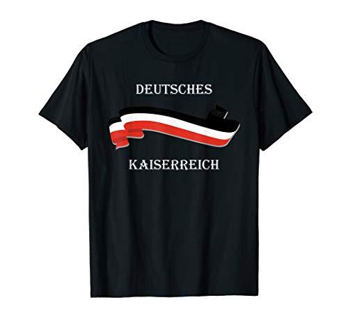 Deutsches Kaiserreich Preußen Schwarz Weiß Rot Flagge T-Shirt