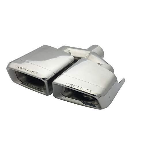 Super-ZS Auto Auspuff Endrohr, Auto Modified Square Double Outlet Schalldämpfer (für Mercedes-Benz W204 / C-Klasse W212 / E-Klasse AMG / C63 / E63)