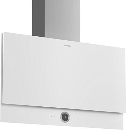 Bosch DWF97RV20 Serie 8 Wandesse / B / 90 cm / Weiß / wahlweise Umluft- oder Abluftbetrieb / TouchSelect Bedienung / Silence / PerfectAir / Metallfettfilter (spülmaschinengeeignet)