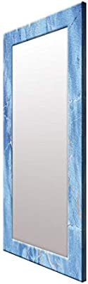 999Store Printed Blue Marvel Pattern Mirror