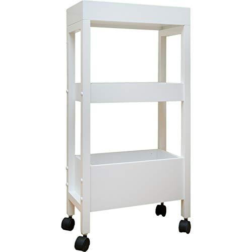 Yxx max Storage Organiser Household Storage Rack It Can Move Bathroom Storage Shelf Landing Kitchen Bathroom Finishing Rack 3 Floors with Wheels