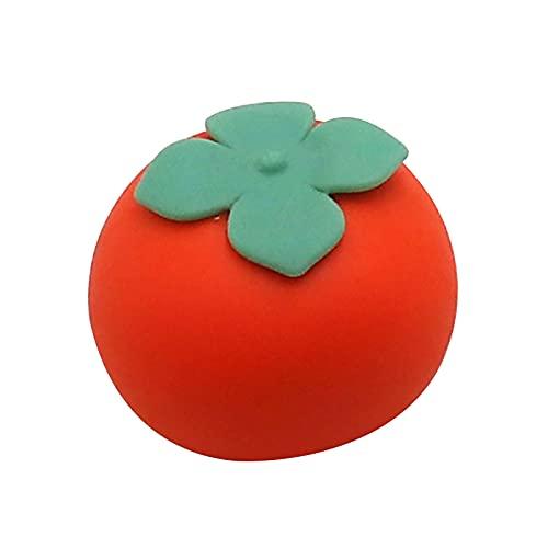 フタリジカン Squishy Balls Tomato Stress Relief Squeeze Balls Relieve Pressure Balls, Stress Relief and Anti-Anxiety Toys, Soft Novelty Hand Grip Pressure Ball, Special Puzzle Balls Party Favors (A)