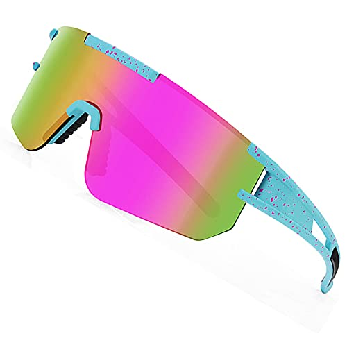 Colorful Neon Wraparound Sports or Party Sunglasses with UV protection