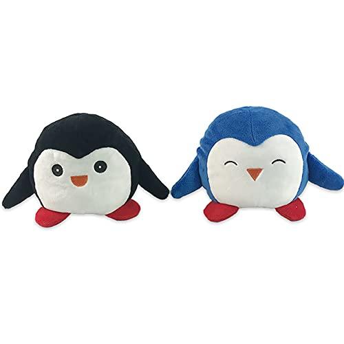 LESIXW Juguete de Peluche de Peluche de Peluche de Pingüino de Doble Cara Que Cambia de Peluche de Cara, se Puede Voltear el Mejor Idioma para Expresar el Estado de ánimo