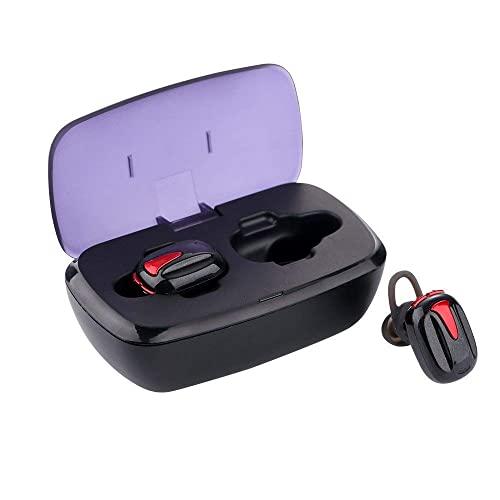 XYZK Auriculares inalámbricos Auriculares Bluetooth True Wireless Ear BudsWaterproof Dual Built-in Mic Auriculares con estuche de carga para tiempo de reproducción extendido (rojo)