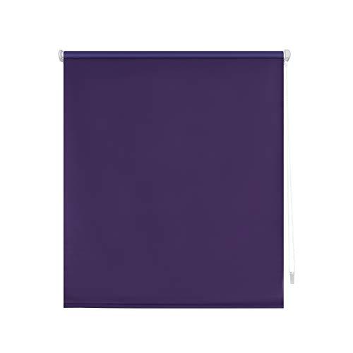Blindecor Liso BK - Zeus Sin Herramientas, Estor enrollable 100% Opaco, color Morado (Violeta), 67 X 180 cm (ancho x alto)