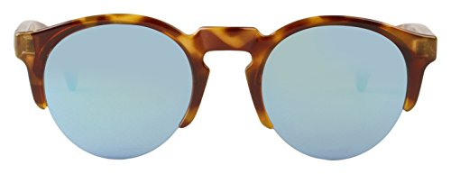MR.BOHO, High-Contrast tortoise born with sky blue lenses - Gafas De Sol unisex multicolor (carey), talla única