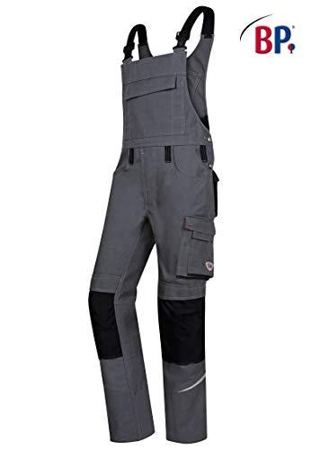 BP 1804-720-5332-50n Latzhose, Stretch-Hosenträger mit Clipbefestigungen, 305,00 g/m² Verstärkte Baumwolle, dunkelgrau/schwarz, 50n