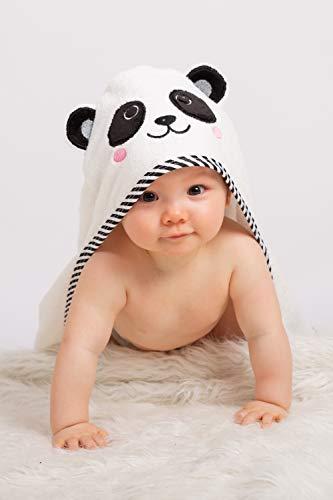 BEING Baby®- Toalla con capucha para bebé - Toalla de playa - Bambú - Extra grande y absorbente - Recién nacido a seis años - Unisex
