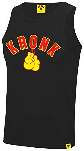 KRONK Boxing Guanti Gilet da Palestra da Allenamento per Uomo Grande Nero