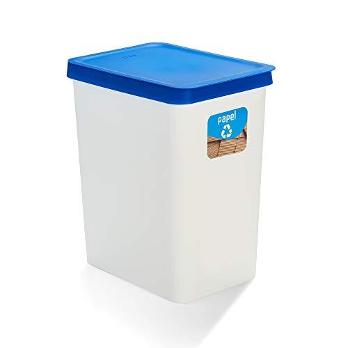 USE FAMILY Recycle- Papelera Cartón y papel 28 Litros (Azul)