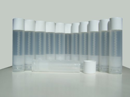 Lip Balm Empty Container Tubes 3/16 Oz (5.5ml), Pack of 12; Natural (Translucent) Color