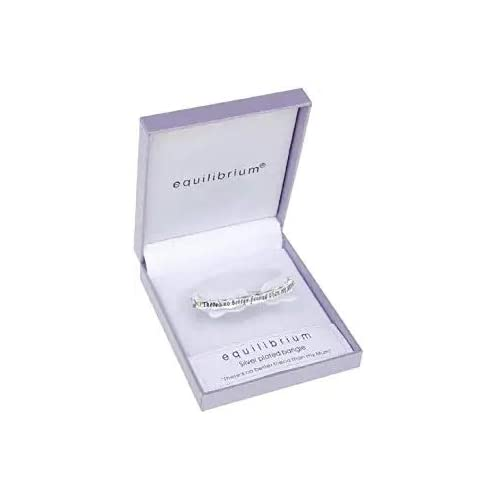 equilibrium Silver Plated Mum Bangle with The Inscription - 'My Mother by Chance, My Friend by Choice'