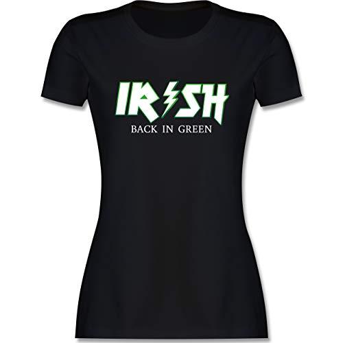 St. Patricks Day - Irish Back in Green - weiß/grün - XXL - Schwarz - Irland - L191 - Tailliertes Tshirt für Damen und Frauen T-Shirt