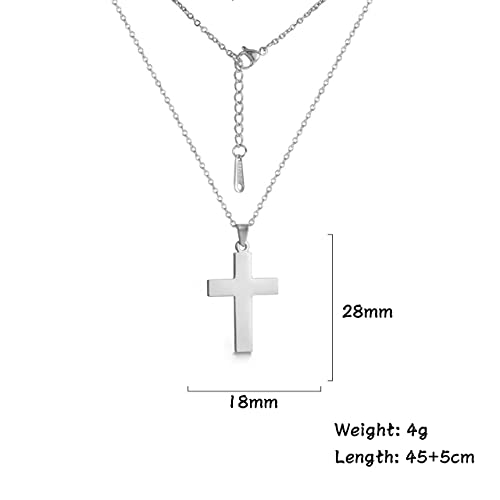 XIAOLONG Collar con Colgante de Cruz de Acero Inoxidable, Accesorios para Mujer, Gargantilla, Collar, joyería Vintage para Hombre,Regalos