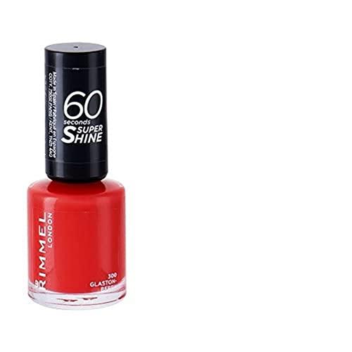 Rimmel London 60 Seconds Super Shine Esmalte de Uñas Tono 300 Glaston-Berry - 34 gr