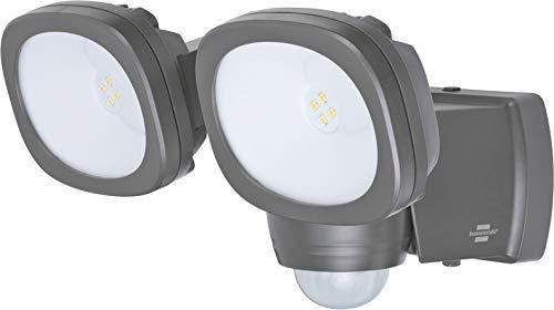 Brennenstuhl Batterie LED Strahler LUFOS / Kabelloser LED Außen-Strahler mit Batterie und Bewegungsmelder (mit 8 Marken LEDs, 2x 240 Lumen, für außen IP44, mit zusätzlicher Funktionseinstellung)