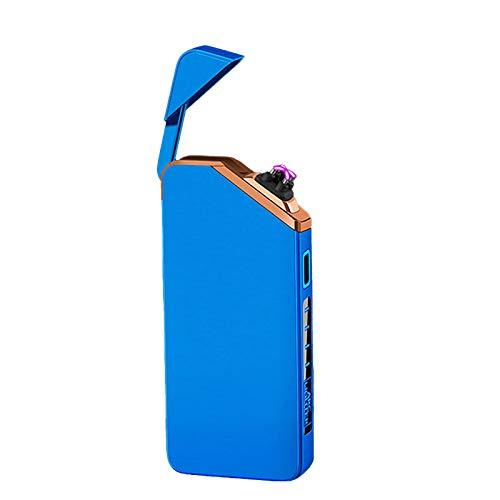 N\C Accendini Antivento, Accendini USB a Doppio Arco, Accendini Elettrico USB Senza Fiamma Antivento per Campeggio all'aperto Escursionismo Emergenza Domestica