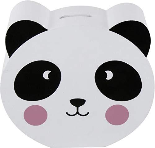 Topshop24you wunderschöne Sparbüchse,Sparschwein,Spardose Panda Kopf ca. 16 cm aus MDF mit Verchluss