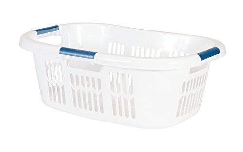 Price comparison product image Rubbermaid Hip Hugger Laundry Basket,  Standard,  White,  1.86 cu ft