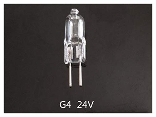ZHANGSHENG Zsheng® 5pcs G4 24V Bombilla halógena 24V G4 Bulb 10W G4 24V 20W 35W 50W 24V G4 Bulbo halógeno Blanco cálido (Wattage : 20w)