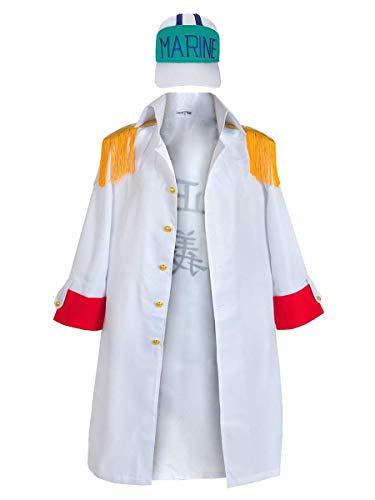 CoolChange One P. Mantel & Basecap von Sakazuki | Großadmiral Akainu Cosplay Kostüm | Größe: L