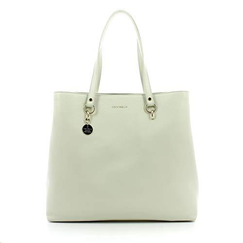 Coccinelle Alpha Medium Shopping Bag CHALK