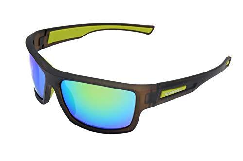 Gamswild Sonnenbrille WS6332 Sportbrille Skibrille Damen Herren Fahrradbrille Unisex | blau | grün | rot, Farbe: Grün