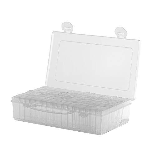 PopHMN Abnehmbare Aufbewahrungsboxen, separater Aufbewahrungsbehälter Organizer Für Nail Art Zubehör Diamond Jewellery 64PCS