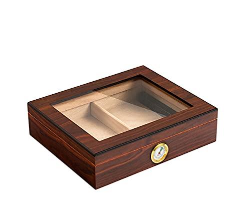 NEAWO Cedar Wood Cigar Travel Humidor Box Portable Cigar Case W/Humidifier Hygrometer Cigar Humidor Sigaren Box for Cohiba Cigars (20-25 Cigars)