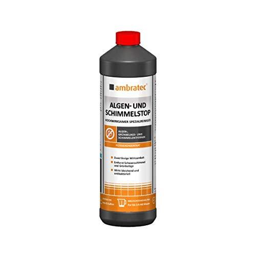 Ambratec Algen und Schimmelstop entfernt Schwarzschimmel Grünbelag Algen 1 Liter Flasche