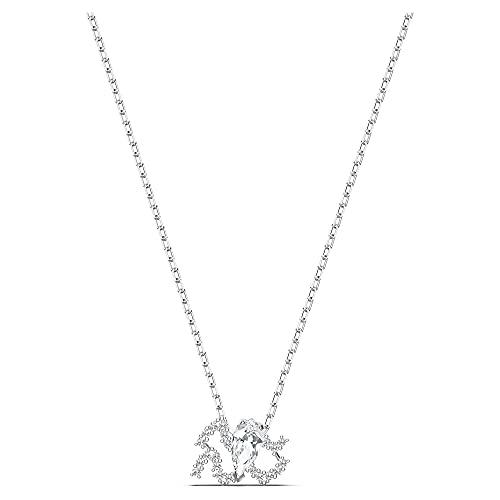 Swarovski Colgante Zodiac II, Acuario, blanco, combinación de acabados metálicos