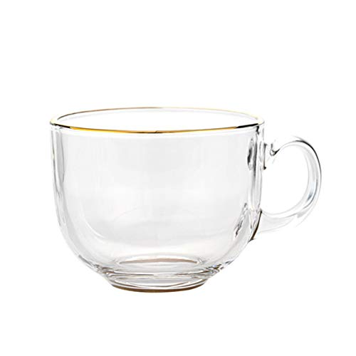 ATYBO Tazas de Vidrio Transparente, Tazas Grandes/Taza Grande/Taza de Cereal Gigante/tazones de Sopa/Taza de Helado/tazones de Yogur/tazones de Postre/Plato de Crema Brulee